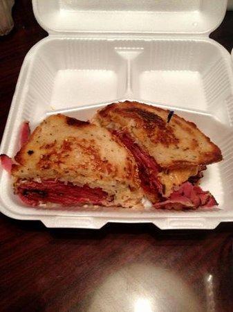 Brent's Delicatessen & Restaurant: Best Reuben EVER! Black pastrami Reuben. Worth traveling 3000 miles for!