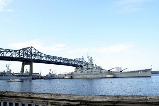 Battleship Cove: The Braga Bridge and USS Massachusetts
