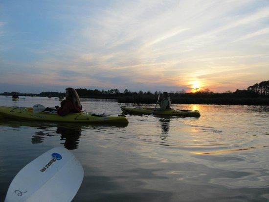 Ayers Creek Adventures: Sunset paddle - after kayaking there was a bonfire party