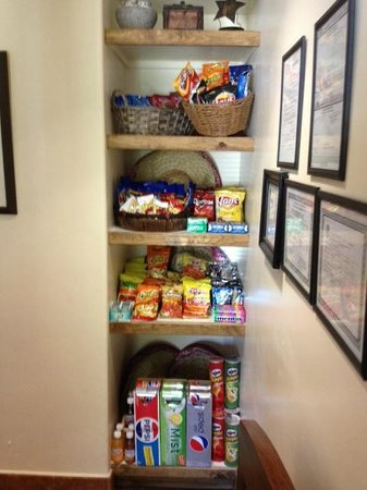 Los Arboles Hotel: You Ask?  We Respond!  New Lobby Pantry Just For You!