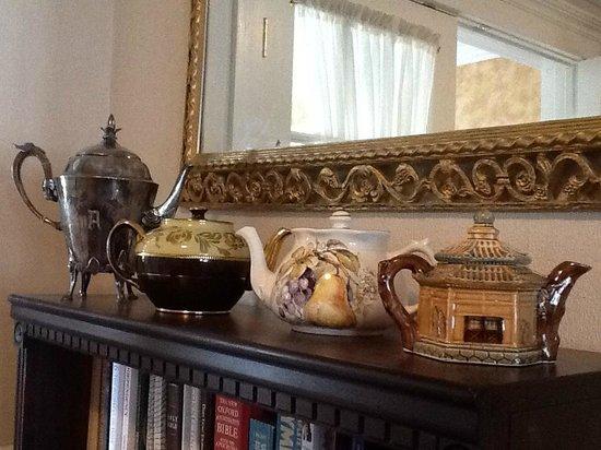 Mrs Potts' Bed & Breakfast: Teapots on a shelf