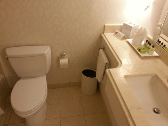 InterContinental Chicago: Renovated bathroom with new decor and toilet
