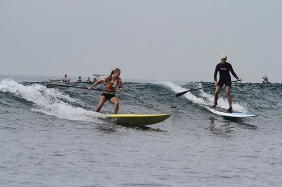 Bali Stand Up Paddle School: Surfing Sanur reef