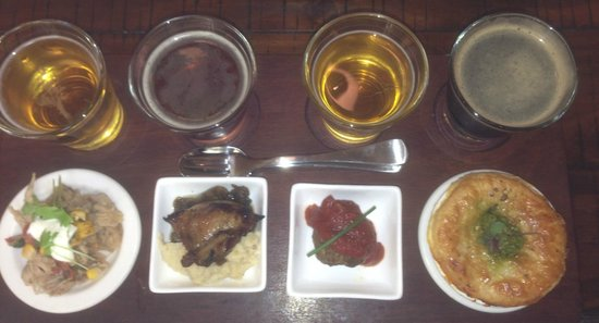 Redoak Boutique Beer Cafe: Meat tasting plate, great beers and food matches