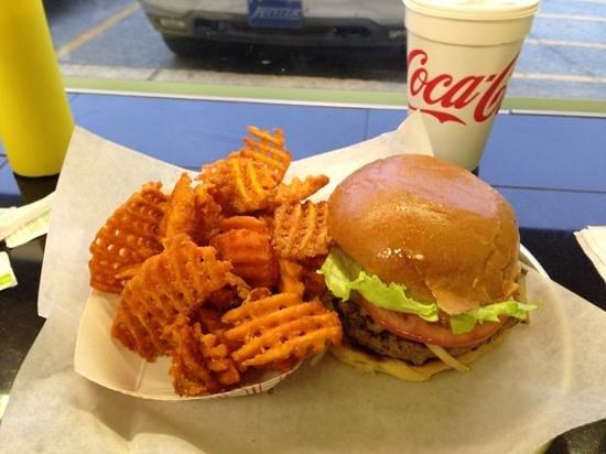 Big Burger Spot: Big Turkey Burger with sweet potato waffle fries