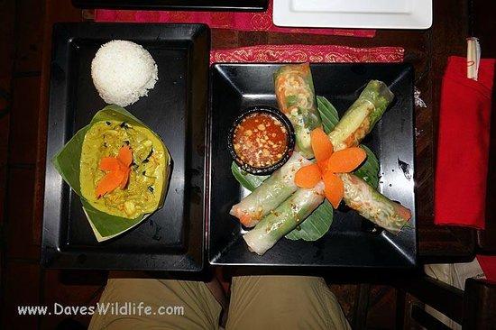 Le Tigre de Papier: AMok Shrimp and Fresh Spring Rolls, my cooking lesson.