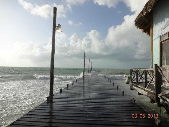 Beachfront Hotel La Palapa: el muelle