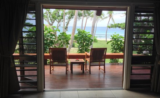 Yasawa Island Resort and Spa: view from inside bure