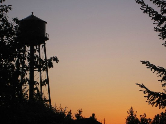McMenamins Edgefield: Water tower at dusk