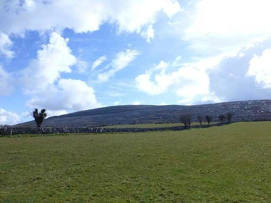 Burren Wild Tours: Hill at Granny's cottage, Burren County Clare, Ireland
