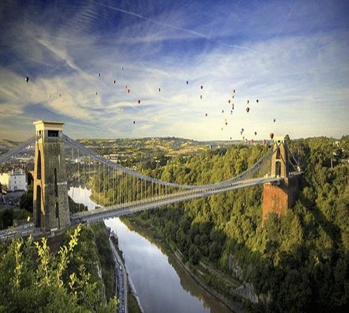 Бристоль, UK: Clifton Suspension Bridge