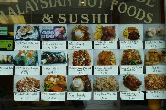 Old Town Malaysian and Sushi Takeaway: What you see is what you get