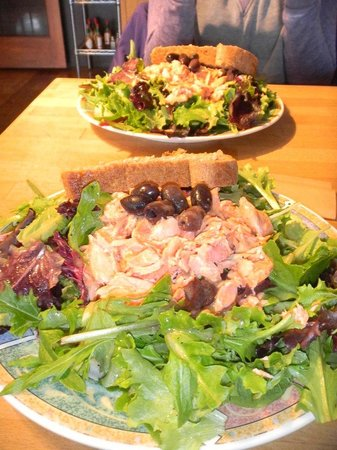Better Living Through Coffee: Organic Salad with Salmon