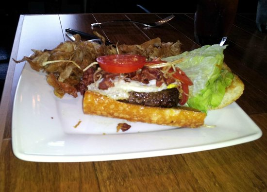 Justin's: Bacon and Egg Elk Burger