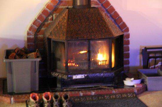 Waiotemarama Falls Lodge : Fire place