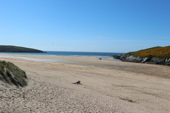 Crantock, UK : A vast expanse of clean sand
