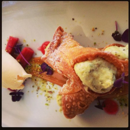The Boathouse on Blackwattle Bay: French pastry with fresh cream and fruit... sinful beyond belief.