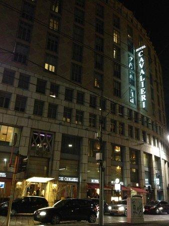 Hotel Dei Cavalieri: Hotel view from Metro (Subway) entrance/exit