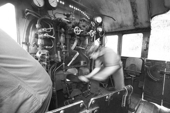 Strathspey Steam Railway: stoking the fire