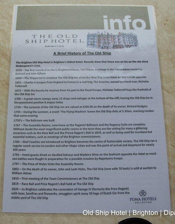 Description of the Old Ship Hotel