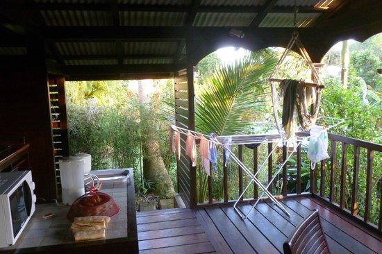 Piton Bungalows: la terrasse