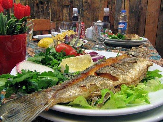 Finike, Turquía: levrek - seabass
