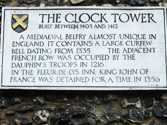 St Albans Clock Tower: Succinct Plaque outlining history ofClock Tower