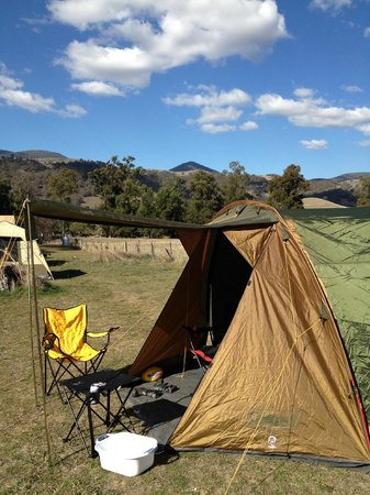 Wee Jasper Reserves: Beautiful Wee Jasper and campsite all set up!
