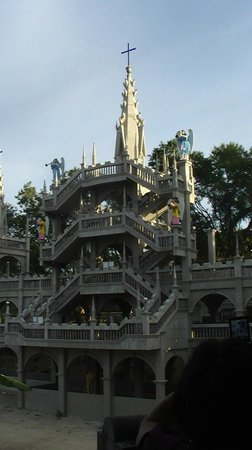 Cebu, Filipina: Simala Shrine - close up side view