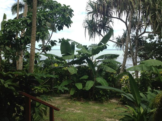 Matanivusi Surf Resort: All the bures are on along the beach and have similar views