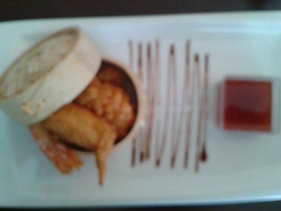 Gula: Tapa de tempura de langostinos