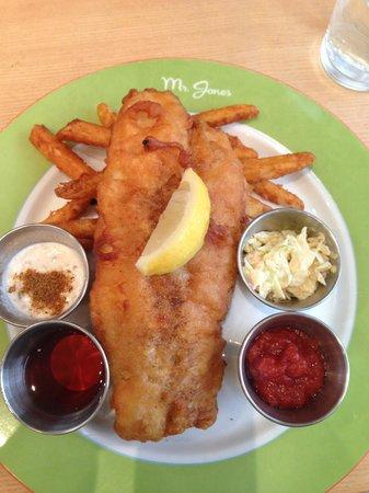 Mr. Jones: Me Jones fish and chips