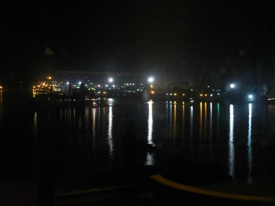 View of Dar es Salaam harbour from Sawasdee