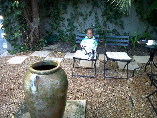 Lotz of Joy: My son enjoying the garden