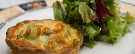 Hanora's Cottage: leek and mushroom tartlet