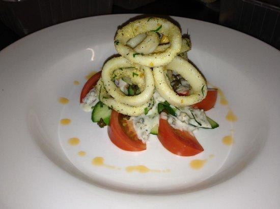 Breakers Restaurant: Local squid
