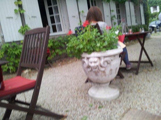 Auberge de la Riviere : Repas en terrasse