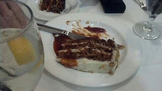 Carrot cake with caramel picture of cafe chardonnay Cafe chardonnay palm beach gardens
