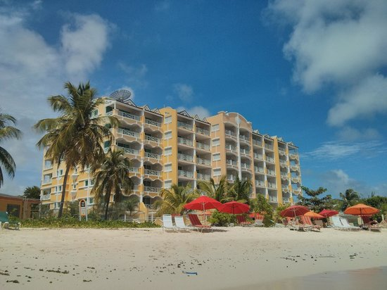 Ocean Two Resort & Residences: View of the hotel from the beach