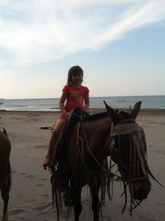 Linda Guest House: Beach riding in front of Linda's Guest House