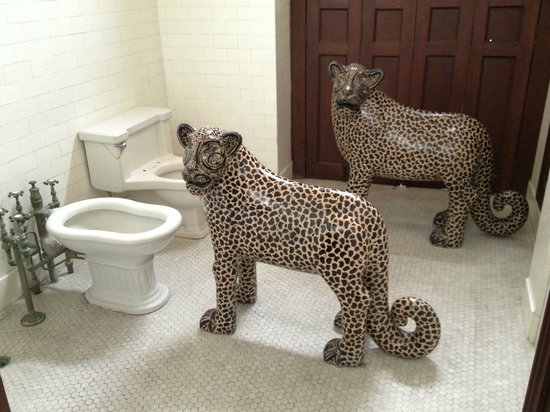 Museo de Arte Popular : Jaguars, humorously displayed in the toilet