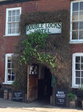 Double Locks Pub: out the front.