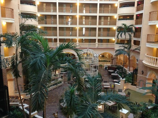 Embassy Suites by Hilton Orlando - International Drive / Convention Center: Looking down to atrium