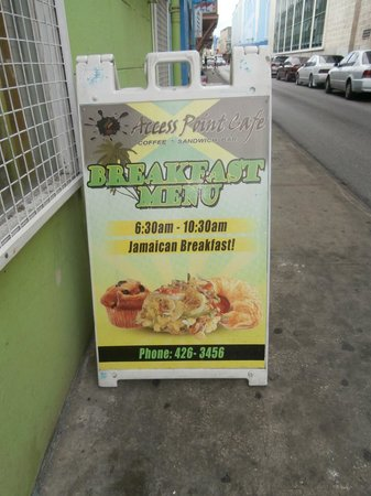 Access Point Internet Cafe : Jamaican cuisine