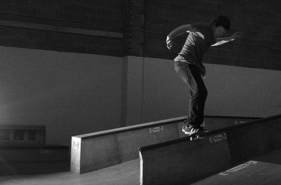 ATBShop Skate Warehouse: Sw fs boardslide in the warehouse.
