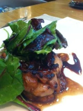 Majestic Restaurant: Grilled chicken chop in teriyaki sauce and greens
