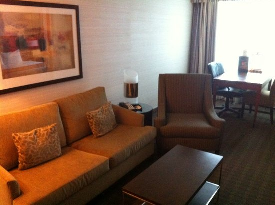Cambridge Suites Toronto: TV/sitting area