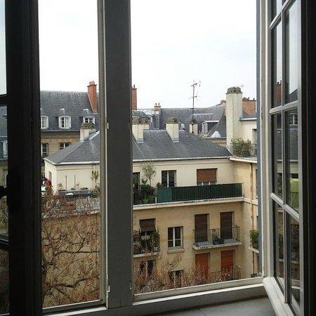 view from the room photo de auberge de jeunesse mije. Black Bedroom Furniture Sets. Home Design Ideas