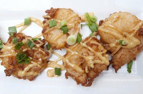 رمادا إن آند سويتس - ساجيناو ميتشيجان: Ramada Small Plate Tempura Shrimp with firecracker sauce
