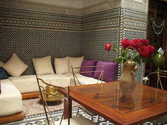 Riad La Cle de Fes : la zona relax